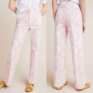 NWT Anthropologie Jamie Trousers Pink Tie Dye